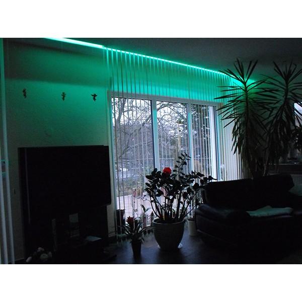 RGB LED Streifen Stripe Band Schlauch Set (60 LED/m, IP20) inkl. Controller, 17 Tasten FB und Netzteil – Länge selbst wählen (1,0 m bis 10,0 m) (Default)
