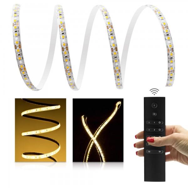 Comfort LED Streifen warmweiß 120 LED/m - mit 6-Zonen Funkfernbedienung