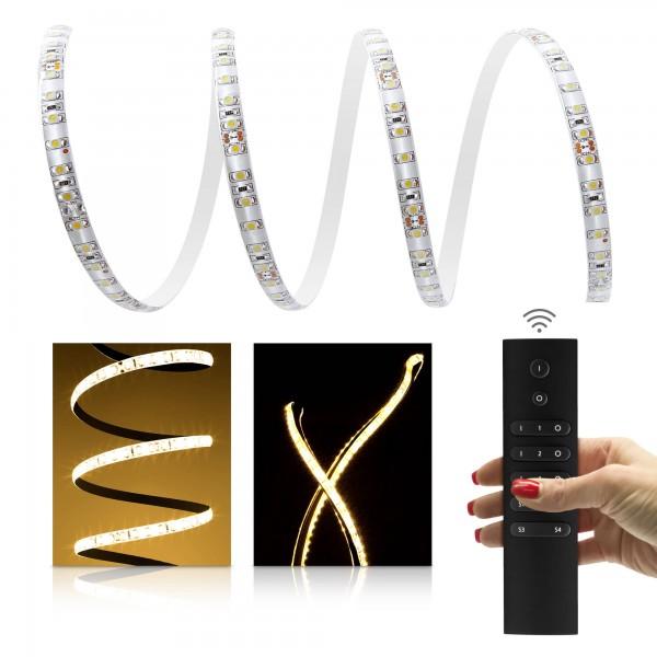 Premium LED Streifen warmwei?? 120 LED/m - 6-Zonen Funkfernbedienung