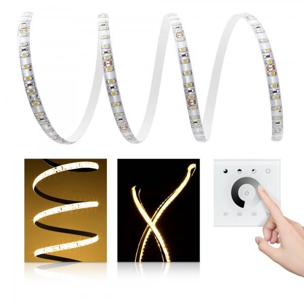 Premium LED Streifen warmwei?? 120 LED/m - mit Unterputzsteuerung