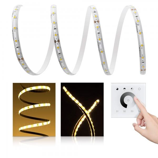 Premium LED Streifen warmwei?? 60 LED/m - mit Unterputzsteuerung