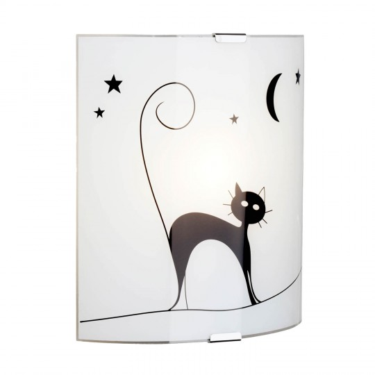 Brilliant 05910/75 Cat Wandleuchte Glas/Metall Leuchte