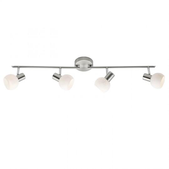 Brilliant 10532/05 Bona Spotrohr, 4-flammig, drehbar Metall/Glas Leuchte