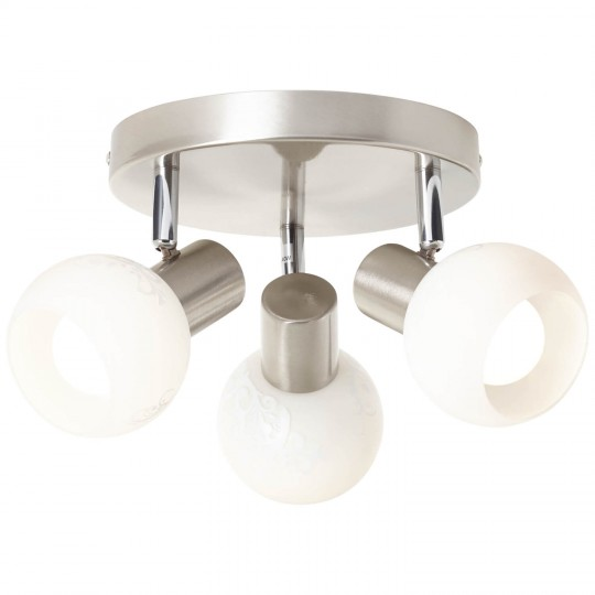 Brilliant 10534/05 Bona Spotrondell, 3-flammig Metall/Glas Leuchte