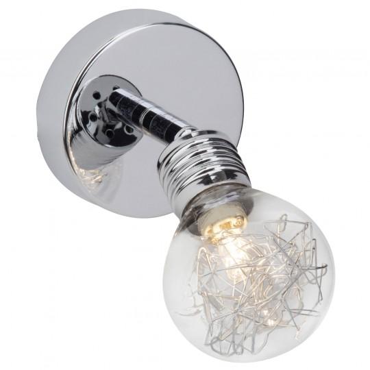 Brilliant 21210/15 Bulb Wandspot Metall/Glas Leuchte