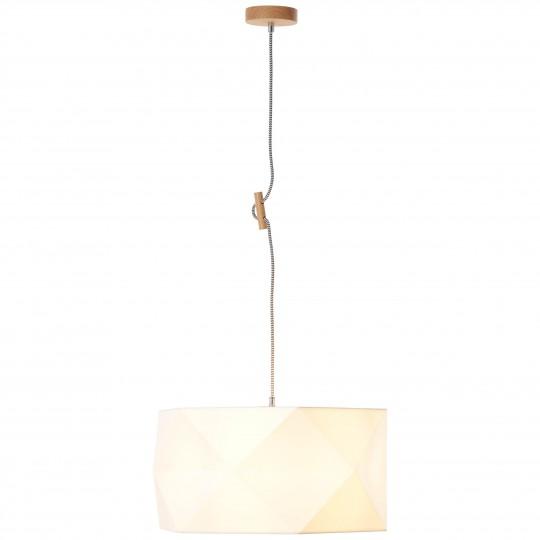 Brilliant 31970/35 Polygon Pendelleuchte 43cm Holz/Textil Leuchte