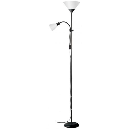 Brilliant 93008/76 Spari Deckenfluter mit Lesearm Aluminium/Kunststoff LED Lampen