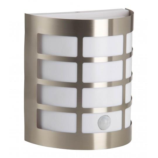 Brilliant 96183/82 Rune Aussenwandleuchte mit Bewegungsmelder Metall/Kunststoff LED Lampen