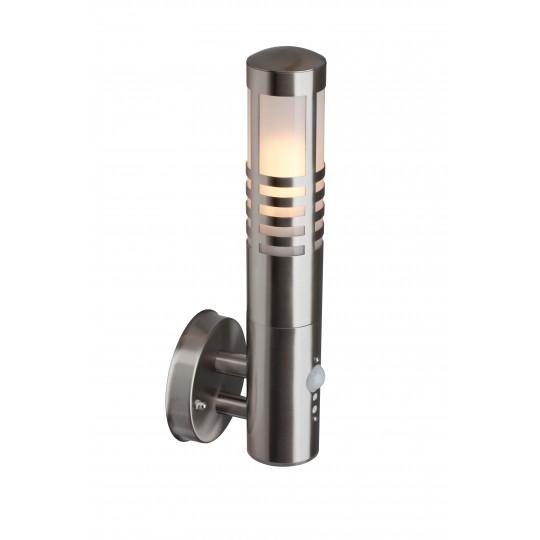 Brilliant 96196/82 Gerna Aussenwandleuchte, stehend mit Bewegungsmelder Edelstahl/Kunststoff LED Lampen