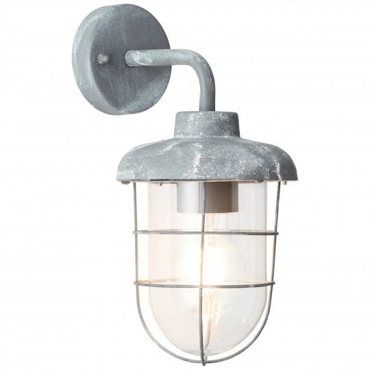 Brilliant 96288/70 Carlisle Aussenwandleuchte, haengend Metall/Glas LED Lampen