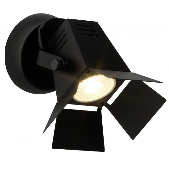Brilliant G08910/76 Movie Wandspot Metal schwarz LED Lampen