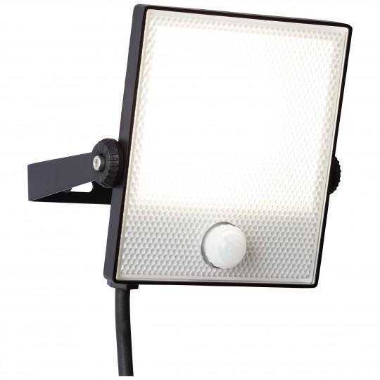 Brilliant G96331/06 Dryden Aussenwandstrahler schwarz 16cm mit Bewegungsmelder Metall/Kunststoff LED Lampen