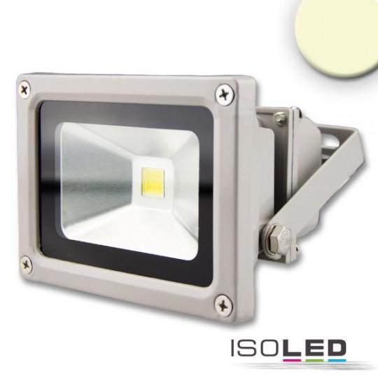 LED Fluter 10W, warmweiß, silber matt, IP65