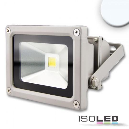 LED Fluter 10W, kaltweiß, silber matt, IP65