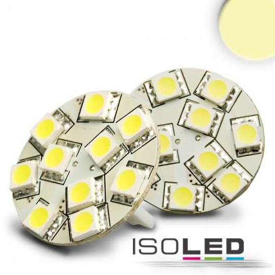 LED T10 Leuchtmittel, 10-30V/DC, 10SMD, 2 Watt, warmweiss, Sockel hinten