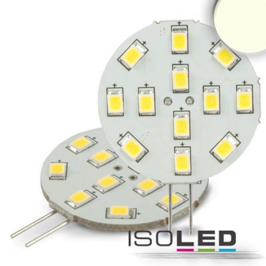 G4 LED 12SMD, 2W, neutralweiß, Pin seitlich