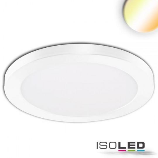 LED Aufbau/Einbauleuchte Slim Flex, 24W, weiß, ColorSwitch 3000K|3500K|4000K