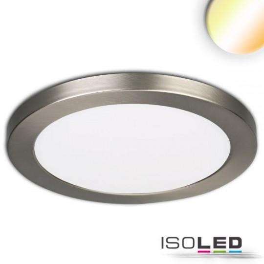 LED Aufbau/Einbauleuchte Slim Flex, 24W, nickel gebürstet, ColorSwitch 3000K|3500K|4000K