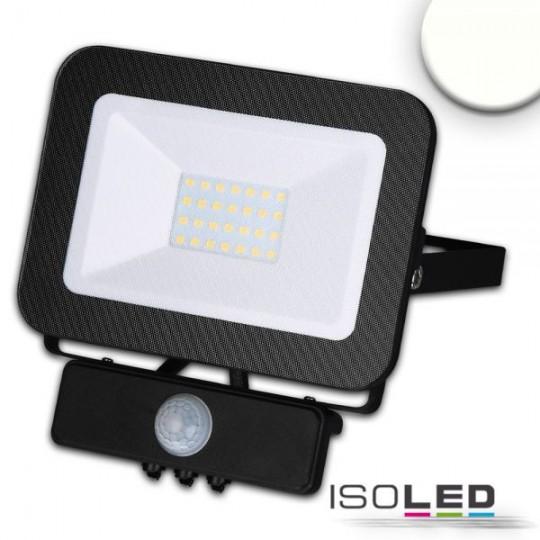 LED Fluter mit PIR-Bewegungssensor 30W, neutralweiß, schwarz, IP65