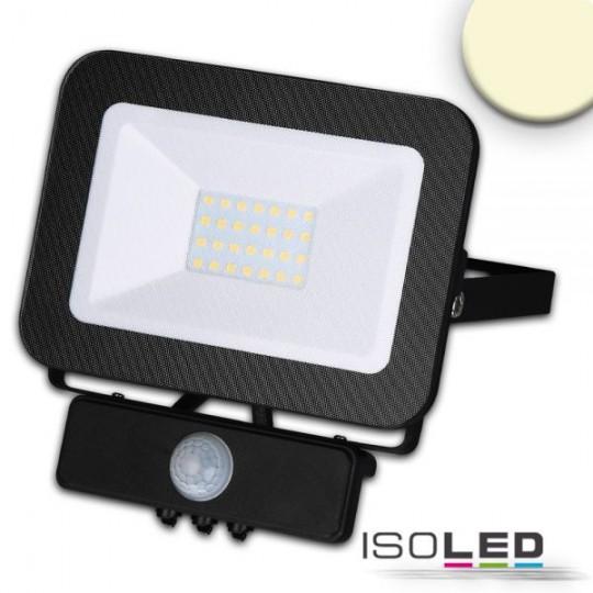 LED Fluter mit PIR-Bewegungssensor 30W, warmweiss, schwarz, IP65