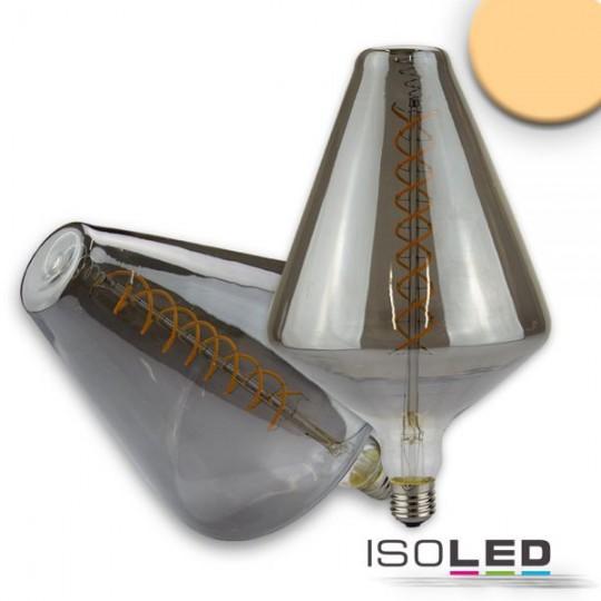 E27 Vintage Line LED Dekobirne 150, 6W ultrawarmweiß, Glas smoky, dimmbar