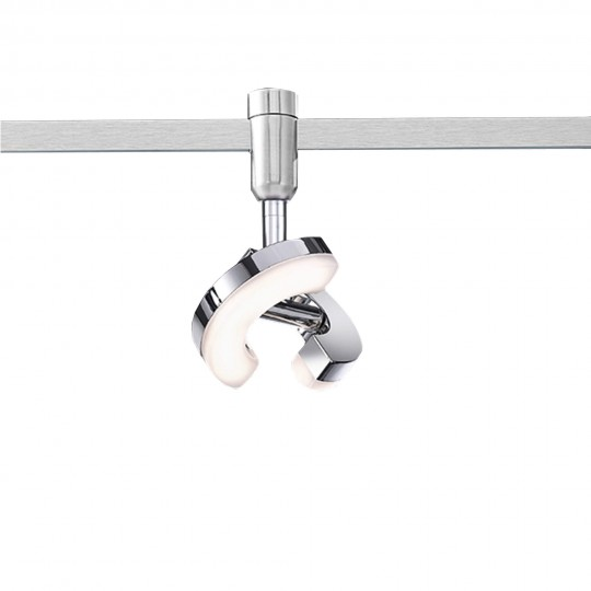 M6 Licht/ HV-Track3 13088 Spotkopf 1-flg. HV-LED 5,5W nickel matt / chrom