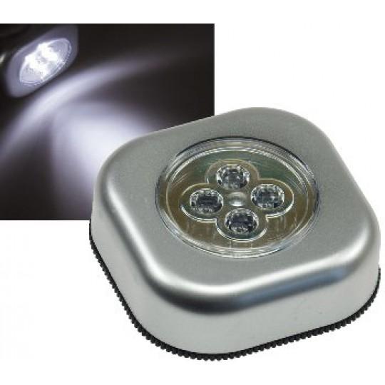 "ChiliTec 17745 LED Klebeleuchte mit 4 LEDs ""CTK4"", mit Klebefolie, Maße 68x68x25mm"