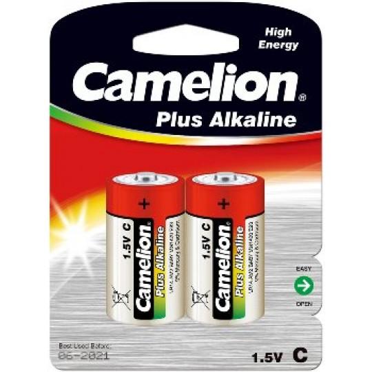 ChiliTec 17767 Baby-Batterien CAMELION AlkalinePlus, Typ C/LR14, 1,5V, 2er Pack