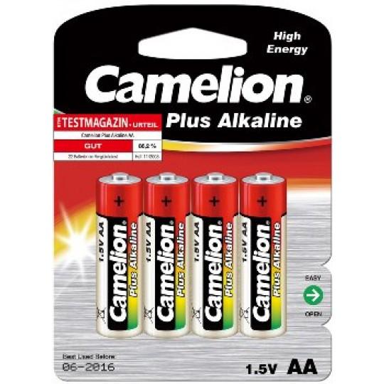 ChiliTec 17768 Mignon-Batterien CAMELION AlkalinePlus, Typ AA/LR6, 1,5V, 4er Pack
