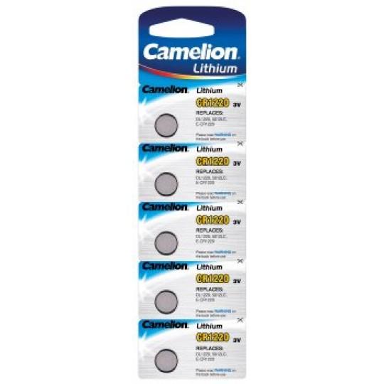 ChiliTec 17783 Lithium Knopfzelle CAMELION CR1220, 3V, 12x2mm, 5er-Blister