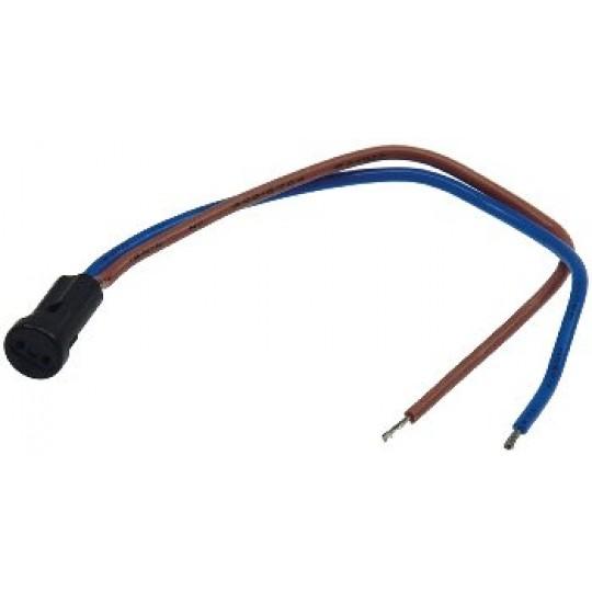 """ChiliTec 18493 G4 Lampenfassung """"Mini"""", rund, max 12V/50W, 15cm Kabel"""