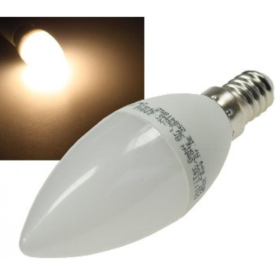 "ChiliTec 21181 LED Kerzenlampe E14 ""K50"" warmweiß, 3000k, 400lm, 230V/5W"
