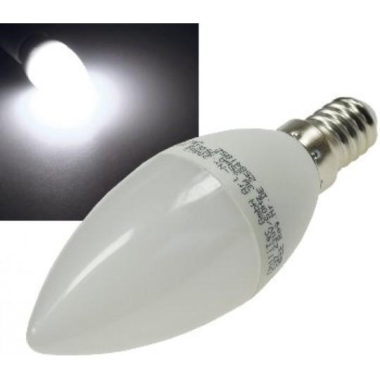 "ChiliTec 21182 LED Kerzenlampe E14 ""K50"" weiß, 4000k, 420lm, 230V/5W"