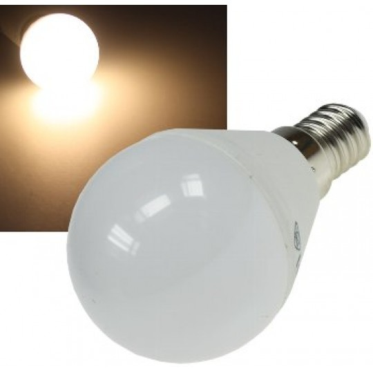 "ChiliTec 21183 LED Tropfenlampe E14 ""T50"" warmweiß, 3000k, 400lm, 230V/5W"