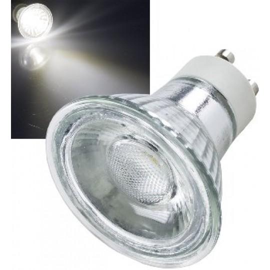 "ChiliTec 21315 LED Strahler GU10 ""H50 COB"", 1 COB, 4000k, 420lm, 230V/5W,neutralweiß"