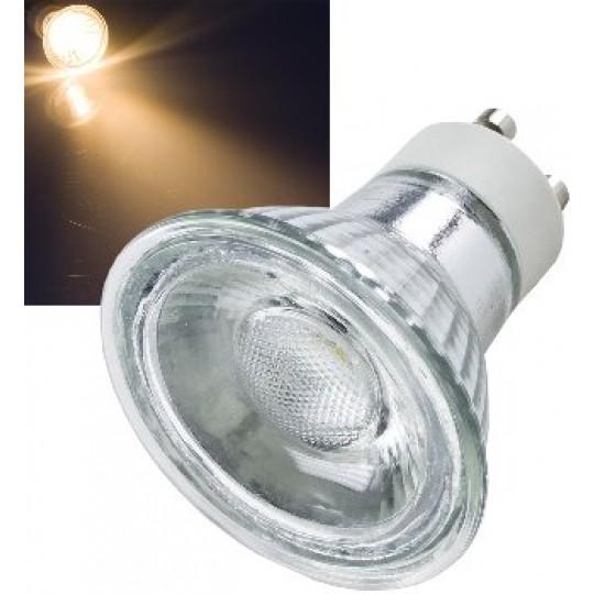 "ChiliTec 21316 LED Strahler GU10 ""H50 COB"", 1 COB, 3000k, 400lm, 230V/5W, warmweiß"