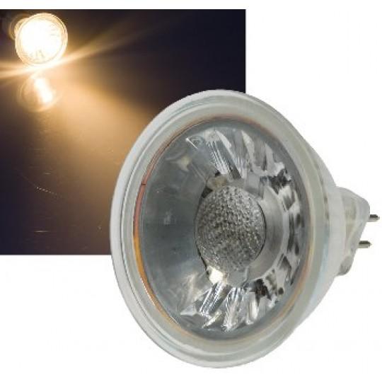 "ChiliTec 21318 LED Strahler MR16 ""H50 COB"", 1 COB, 3000k, 400lm, 12V/5W, warmweiß"