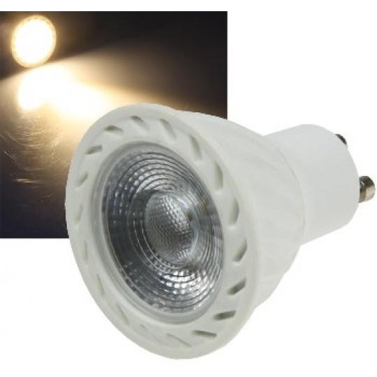 "ChiliTec 21684 LED Strahler GU10 ""H60 COB Dimmbar"", 3000k, 540lm, 230V/7W, warmweiß"
