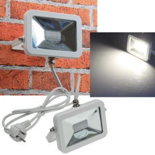 "ChiliTec 21687 LED-Fluter SlimLine ""CTF-SL10W"", 10W, IP44, 780 Lumen, 4200K, neutralweiß"