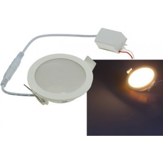 "ChiliTec 21705 LED Licht-Panel ""CP-90R"", Ø 90mm, IP54, 230V, 5W, 400 Lumen, 2900K / warmweiß"