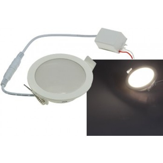 "ChiliTec 21706 LED Licht-Panel ""CP-90R"", Ø 90mm, IP54, 230V, 5W, 420 Lumen, 4200K / neutralweiß"