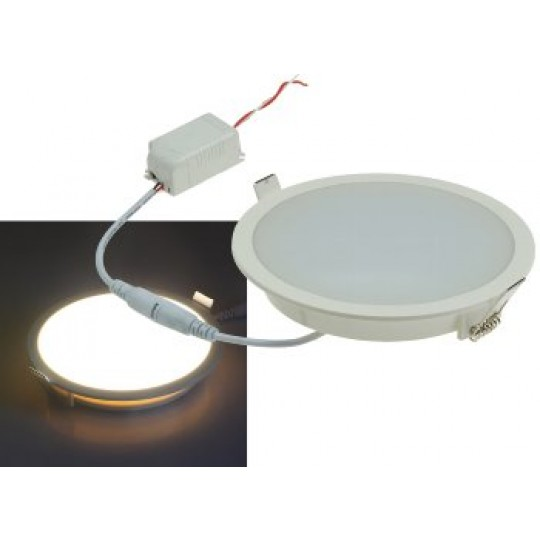 "ChiliTec 21707 LED Licht-Panel ""CP-150R"", Ø 150mm, IP54, 230V, 10W, 800 Lumen, 2900K / warmweiß"
