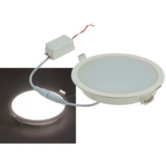 "ChiliTec 21708 LED Licht-Panel ""CP-150R"", Ø 150mm, IP54, 230V, 10W, 840 Lumen, 4200K/neutralweiß"