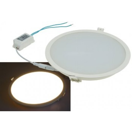 "ChiliTec 21709 LED Licht-Panel ""CP-225R"", Ø 225mm, IP54, 230V, 18W, 1440 Lumen, 2900k/warmweiß"