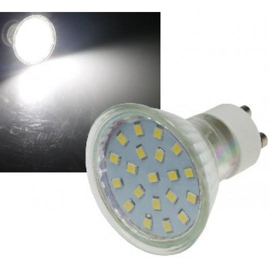 "ChiliTec 21728 LED Strahler GU10 ""H40 SMD"", 120°, 4000k, 300lm, 230V/3W, neutralweiß"