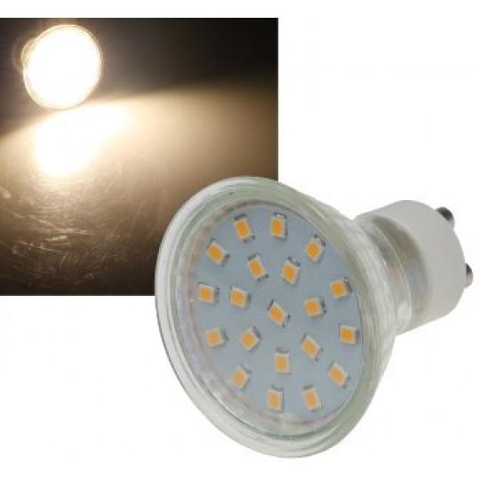 "ChiliTec 21729 LED Strahler GU10 ""H40 SMD"", 120°, 3000k, 280lm, 230V/3W, warmweiß"
