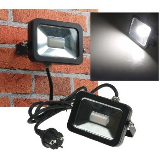 """ChiliTec 21857 LED-Fluter SlimLine """"CTF-SL10B"""" #REST#, 10W, IP44, 780 Lumen, 4200K, neutralweiß"""