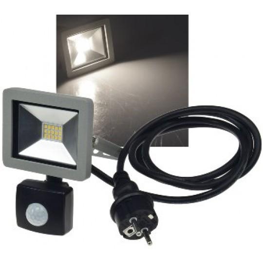 "ChiliTec 22573 LED-Fluter SlimLine ""CTF-SLT10 PIR"", 10W, IP44, 750lm, 4200K, Bewegungsmelder"