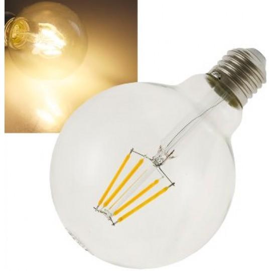 "ChiliTec 22974 LED Globelampe 95mm E27 ""Filament G95"", 3000k, 470lm, 230V/4W, warmweiß"