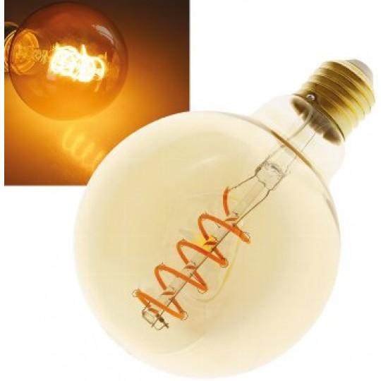 "ChiliTec 22975 LED Globelampe 95mm E27 ""Vintage G95"", 2000k, 280lm, 230V/4W, warmweiß/amber"
